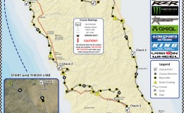 2015 Baja 1000 Course Map