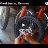 KTM Wheel Bearing Removal