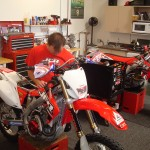 I headed up to the JCR race shop for some help