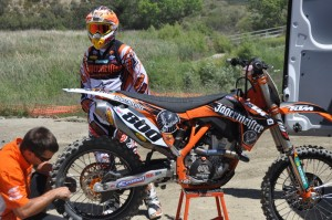 Alessi with his 2011 KTM 350sxf with fuel injection