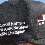 JCR team hat, celebrates win