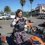 Tayla Dodson prepares to ride solo for 1000 miles