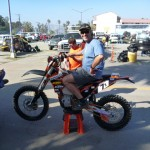 I get my 30 seconds on the factory race bike