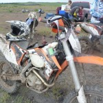 Race testing new KTM at Wyoming National Enduro
