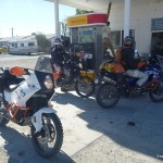 Meeting up with more riders headed north