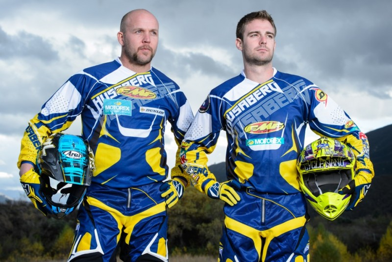 Husaberg riders Mike Lafferty and Russell Bobbitt