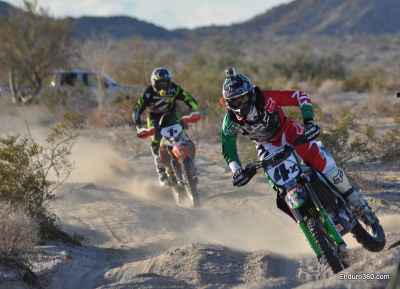Colton Udall in hot pursuit of Robby Bell at 2013 San Felipe 250