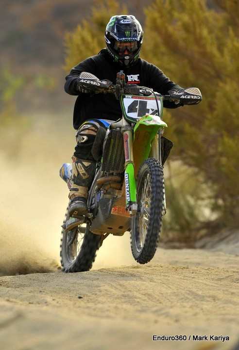 THR Kawasaki rider David Pearson starts up San Rafael was during 2013 Baja 1000