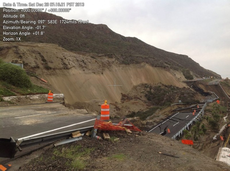 Ensenada toll road landslide
