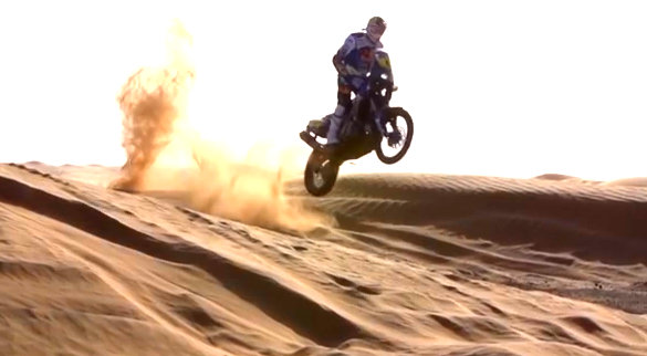 Cyril Despres tests for 2014 Dakar Rally