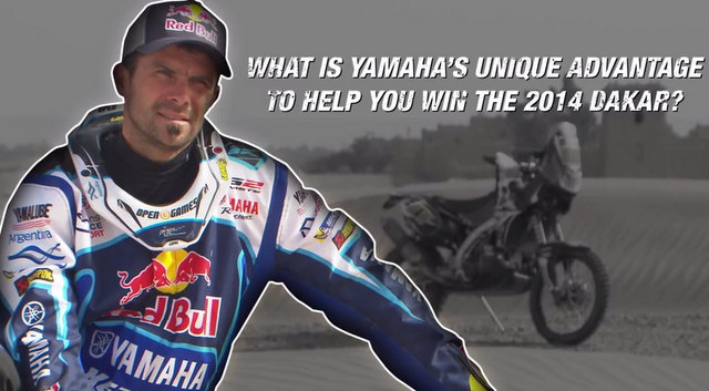 Cyril Despres talks Yamaha and 2014 Dakar Rally