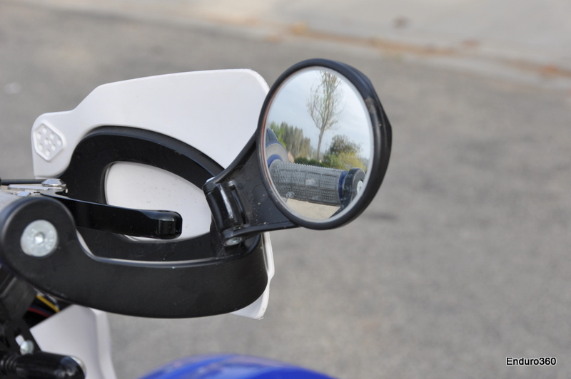 Folding mirrors work better than expected, practical for street use