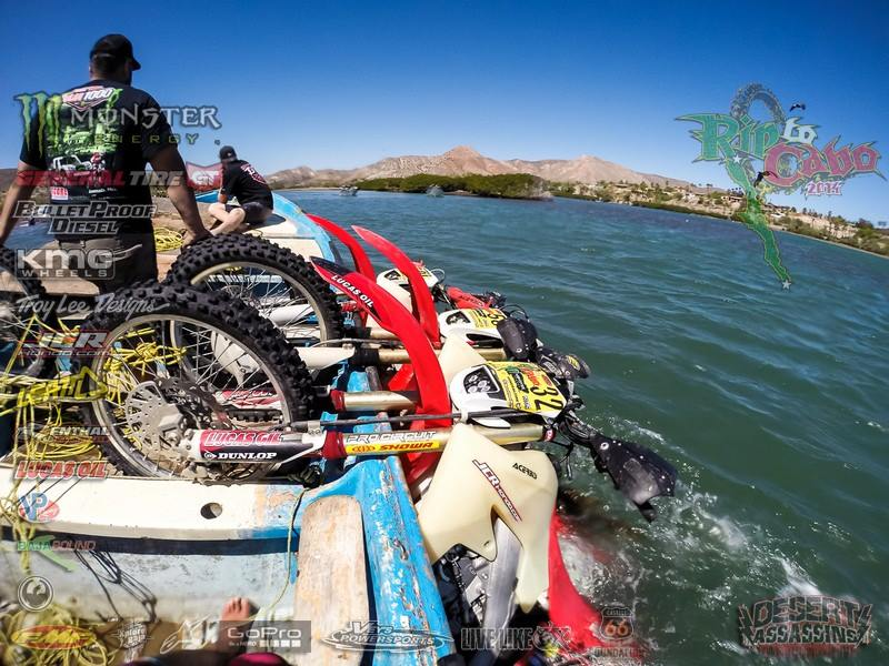 2014 Rip to Cabo, bikes fall in the sea.