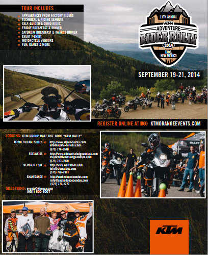 2014 KTM Adventure Rally Taos NM