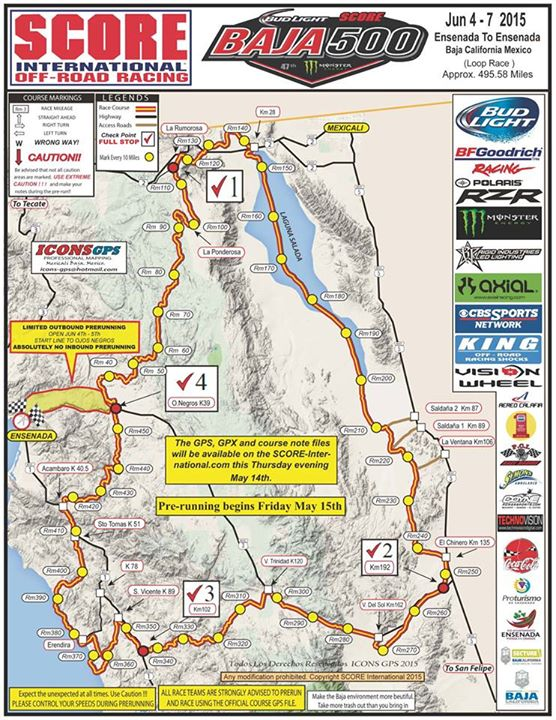 baja 500 course map